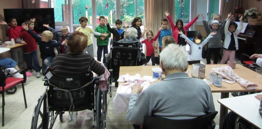 JAIS students visiting seniors