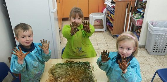Image of Preschool Fingerpainting at JAIS