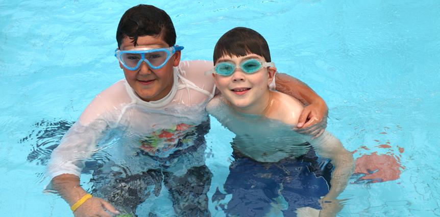 Image of JAIS boys in swimming pool